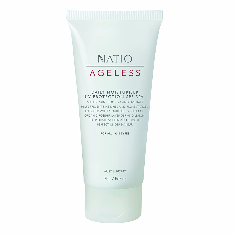 Natio Ageless Daily Moisturiser Uv Protection Spf 30 Skin Aqua Moisture Gel 40g 75g Computers Accessories
