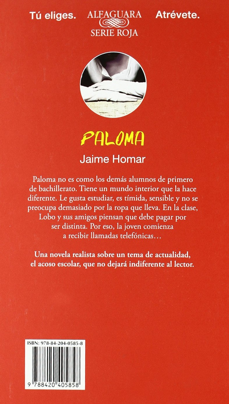 Paloma: Jaime Homar Regnault de Maulmin: 9788420405858: Amazon.com: Books