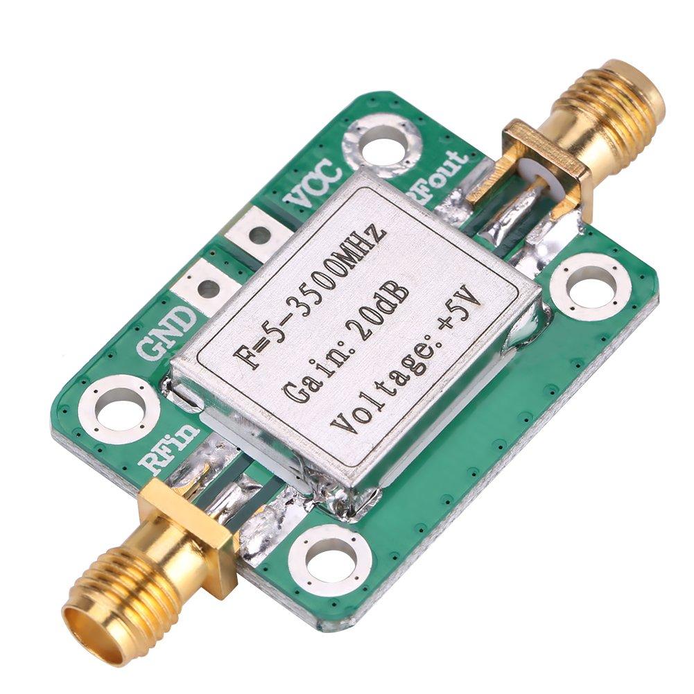 5-3500MHz Broadband 20 dB High Gain LNA Low Noise RF Amplifier Module Ham Radio with Shielding Shell for Shortwave FM TV Audio
