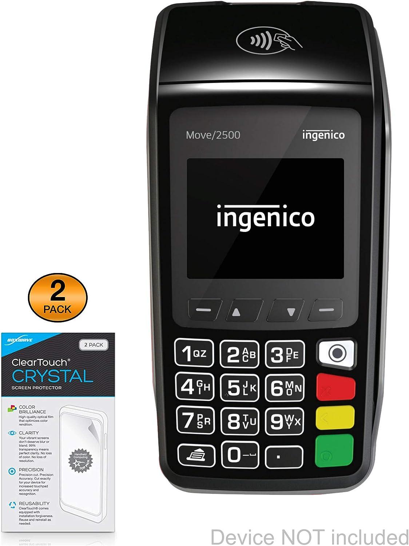 2-Pack BoxWave ClearTouch Anti-Glare Ingenico Link 2500 Screen Protector Anti-Fingerprint Matte Film Skin for Ingenico Link 2500