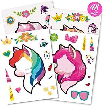 Amazon.com: Mocoosy 48 Make A Unicorn Pegatinas para Niñas ...