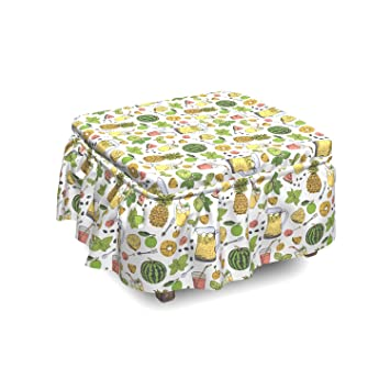 Excellent Amazon Com Ambesonne Tropical Ottoman Cover Summer Drinks Bralicious Painted Fabric Chair Ideas Braliciousco