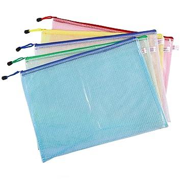 CLE DE TOUS - Pack 5 Bolsas Portadocumentos Bolsa PVC con ...