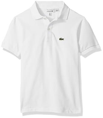 a3c43d721 Lacoste Boys' Classic Short Sleeve Petit Piqué Polo Shirt, White, ...
