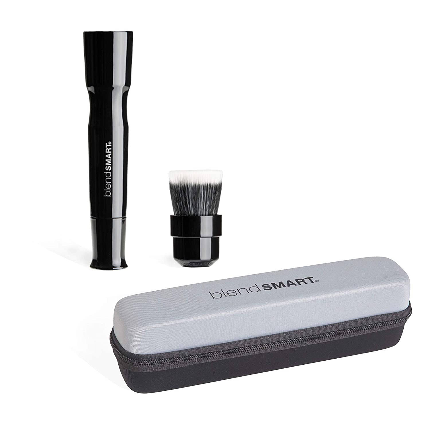 blendSMART2: Powered Foundation Makeup Brush With Spin Head For Blending, Contouring and Airbrush Finish with Travel Case