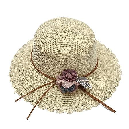 Sombreros de paja de las mujeres Sombrero para el sol Cinta ...
