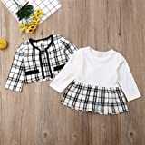 Toddler Baby Girl Plaid Skirt Set Long Sleeve