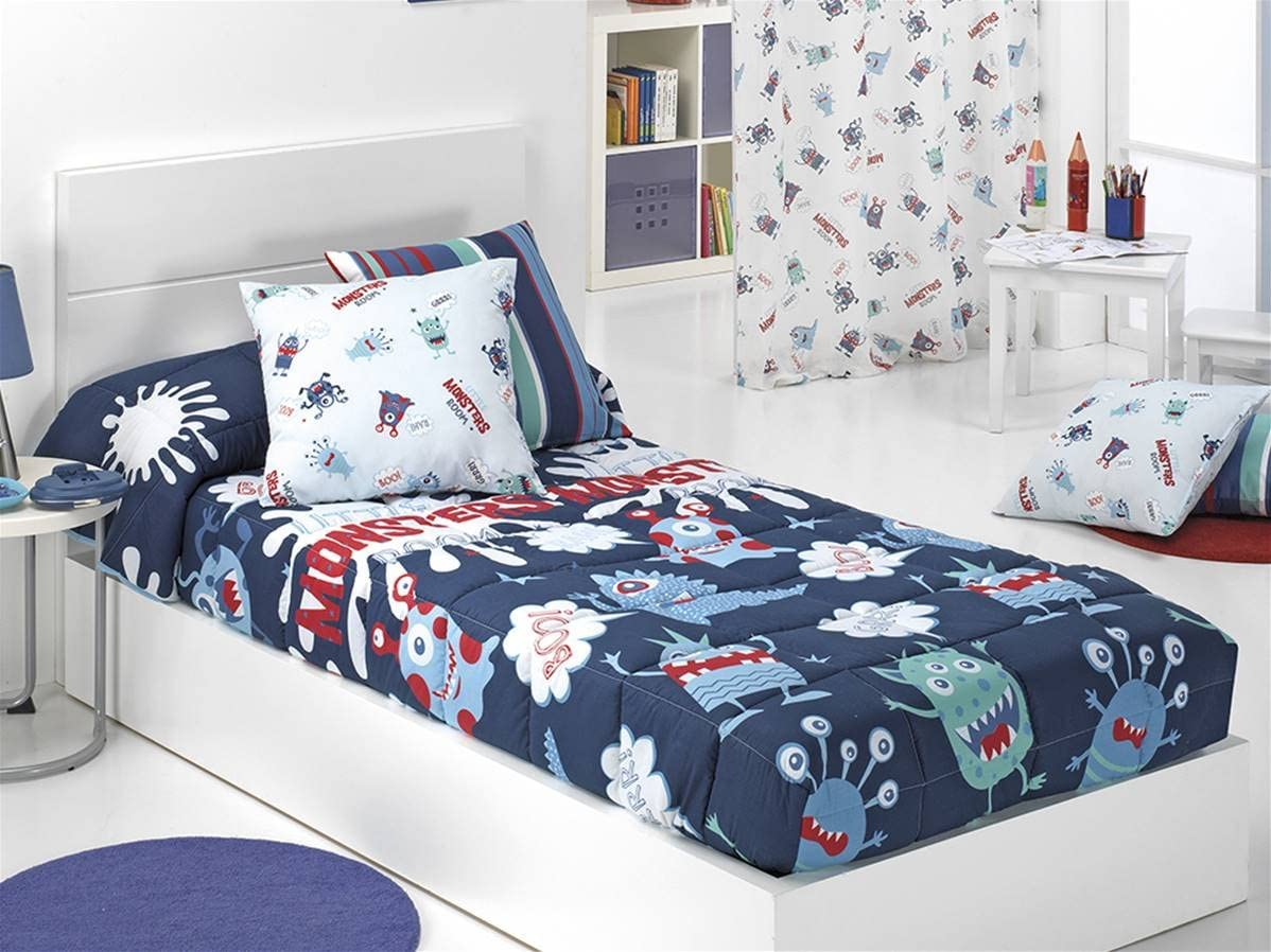 CAÑETE -  Edredón Ajustable Monsters Cama 105