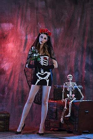 Yao Halloween Cosplay Uniforme Fiesta Fantasma Novia Vampiro ...