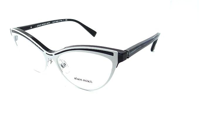 Amazon.com: Alain Mikli Rx Eyeglasses Frames A03072 005 54x16 White ...