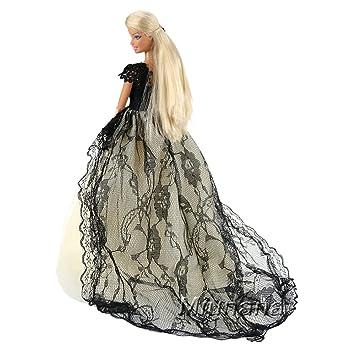 6d612630e Amazon.es  Miunana 1 Hermoso Vestido de Noche Princesa Ropa Vestir Fiesta  para Barbie