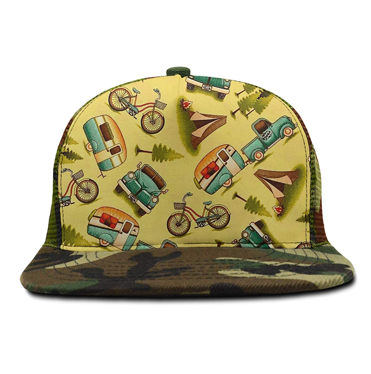 Adjustable Baseball Cap Dad Hat Men Women-Happy Car Bike Camper
