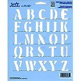"Simply Stencil 8""X10""-Uppercase Alphabet 1.25"""