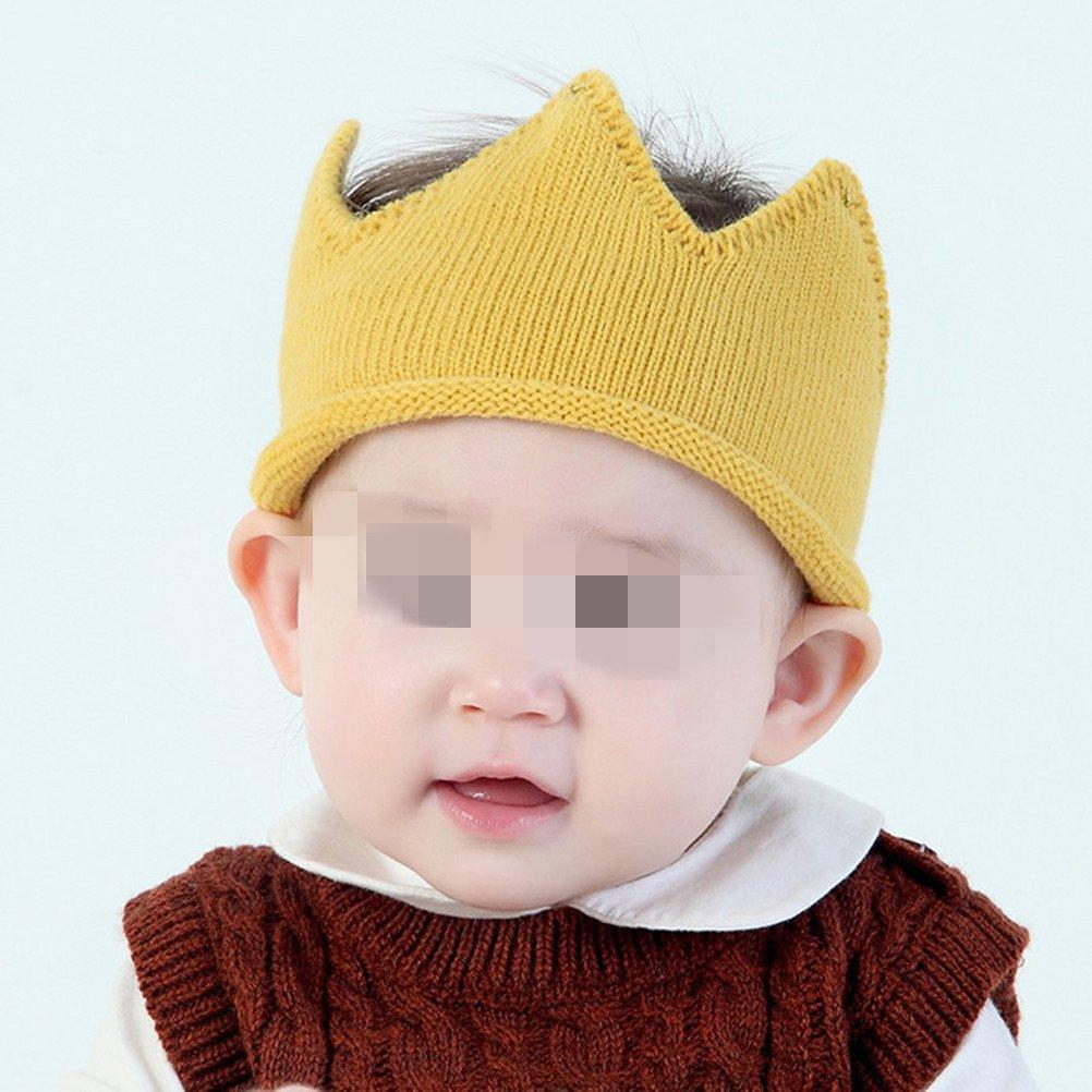 OULII Baby Geburtstag Krone Stirnband Hut Krone Strickm/ütze Kopfschmuck Partyh/üte Baby Taufe Deko