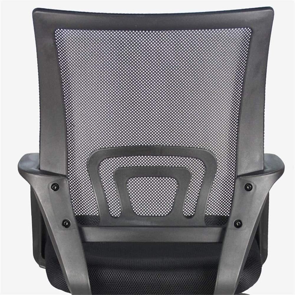Kontorsstol skrivbordsstol möbler ergonomisk kontorsnät med armar sittplatser ryggstöd, mitten av ryggen 360 grader; svängbar uppgift justerbar höjd nylonbas (färg: blå) Svart