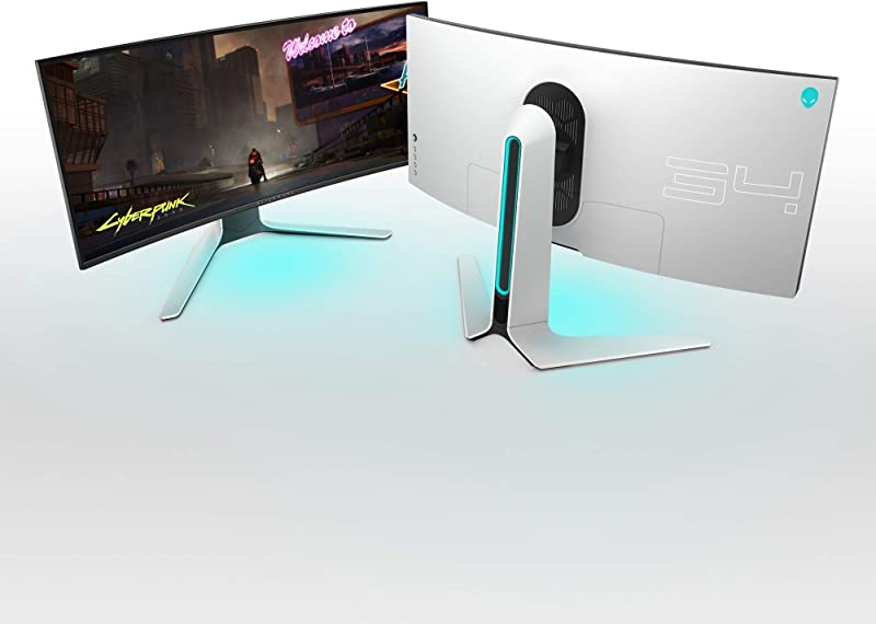 ALIENWARE AW3420DW NEW Curved 34 Inch WQHD 3440 X 1440 120Hz, Monitor, Lunar Light