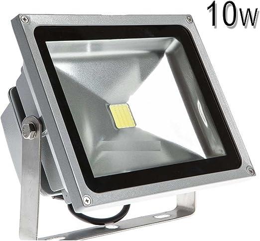 FOCO LED EXTERIOR 10 WATIOS LAMPARA PARED BAJO CONSUMO 10W JARDIN GARAJE A: Amazon.es: Iluminación