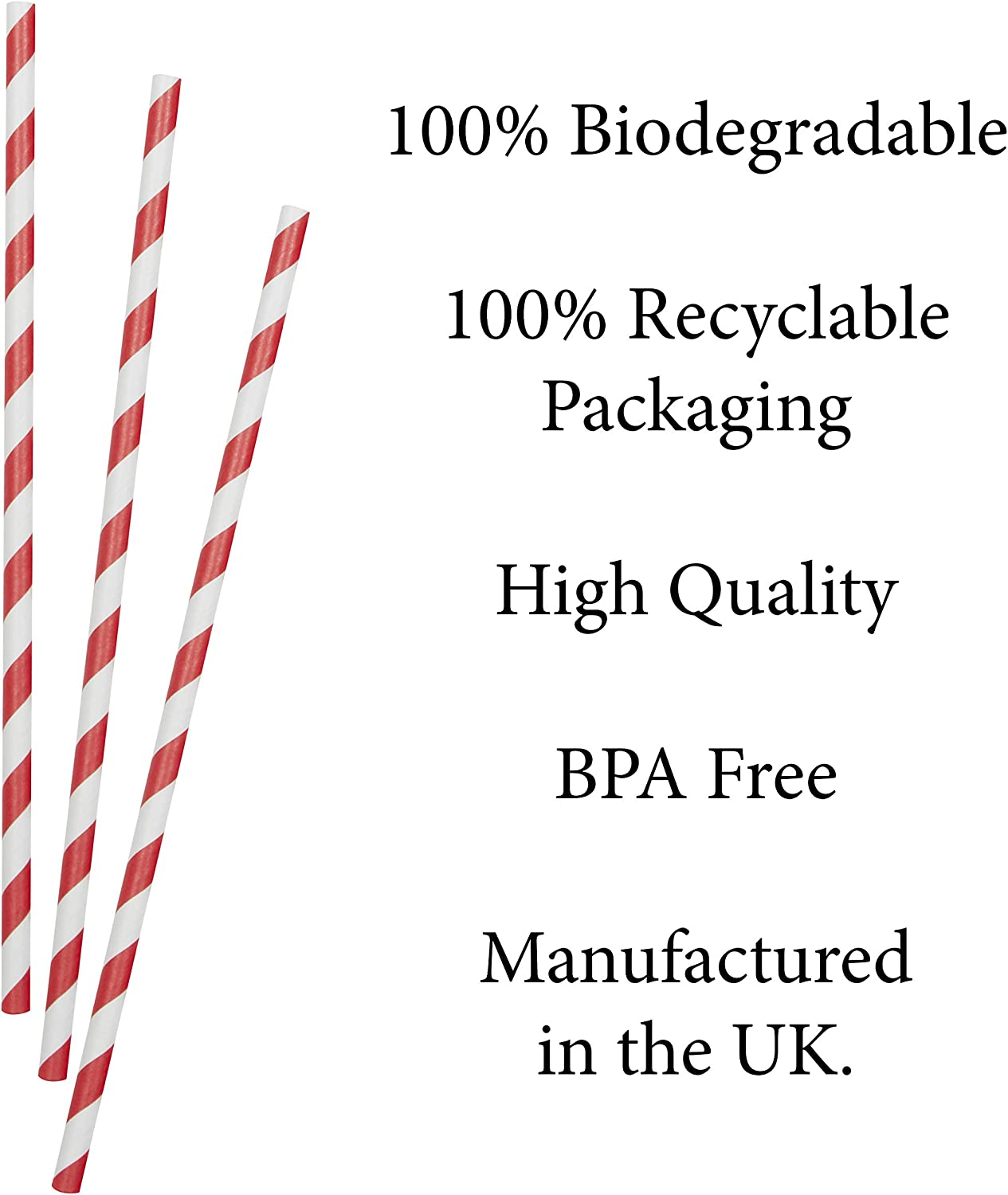 20 cm Long with 6 MM Bore Home Parties DIY Projects Smoothies Milk Paper Straws Eco-Friendly Biodegradable Straws Office for Coffee Juices 250 Pack Etc Travel