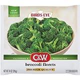 C&W Premium Quality Frozen Broccoli Florets, 14 Ounce (Frozen)