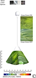 product image for Jezebel Radiance JRWH-LP12-GRA-TRWH White Lily Track Light, Small, Grass Green