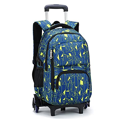 Amazon Com Bageek Rolling Backpack For Boys Girls Backpack With