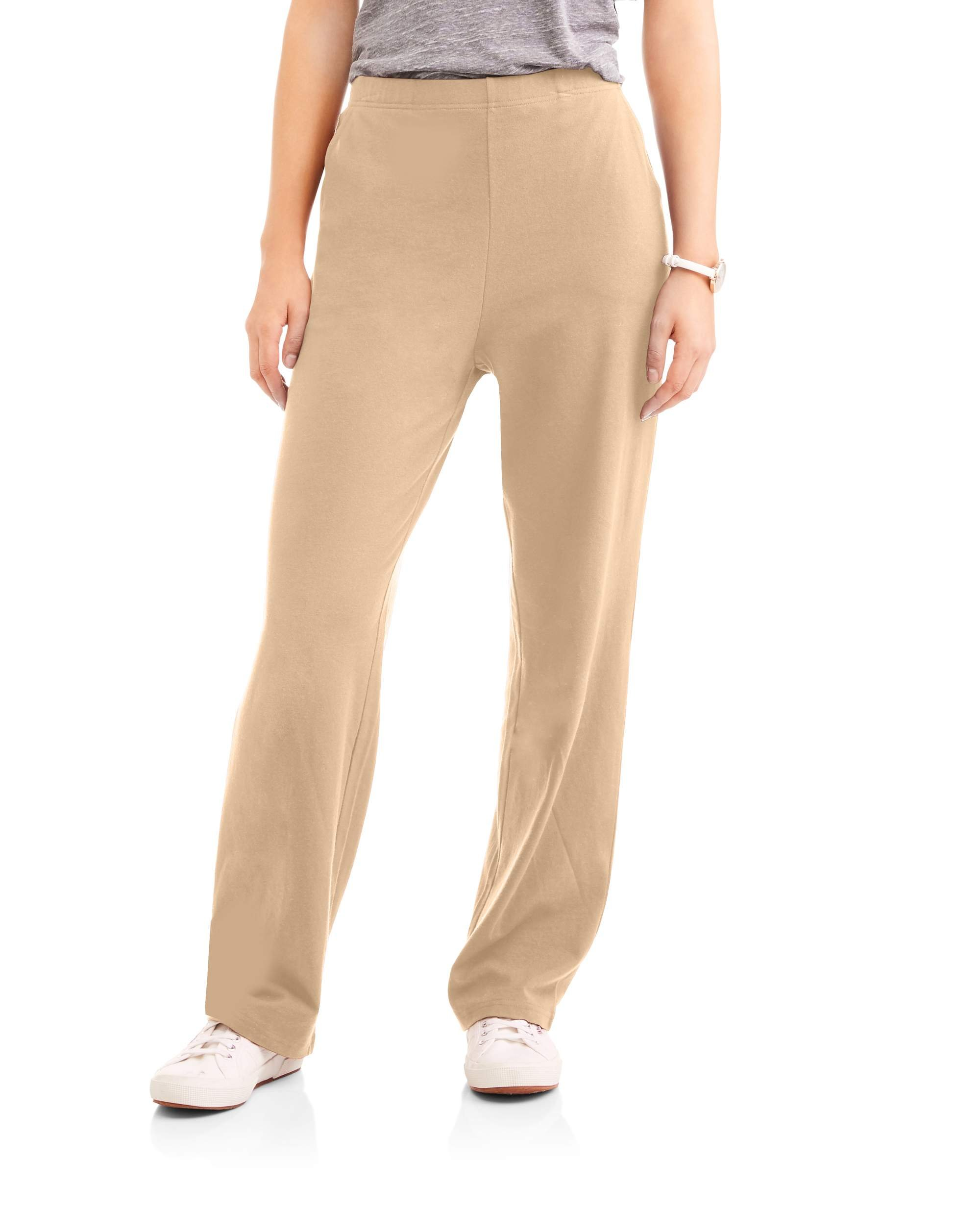 White Stag Women's Knit Pull-On Pants Available In Regular and Petite (Petite X-Large, Urban Khaki)