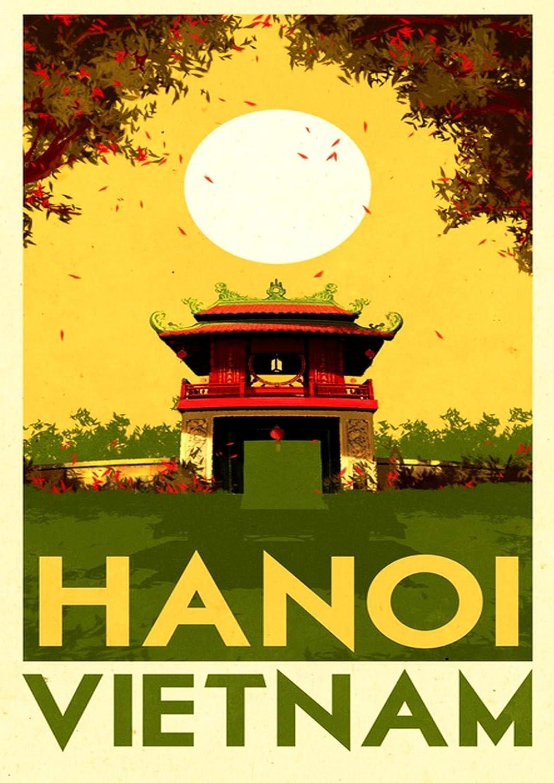 Vietnam Hanoi Travel Poster Canvas Premium Quality A3-A4