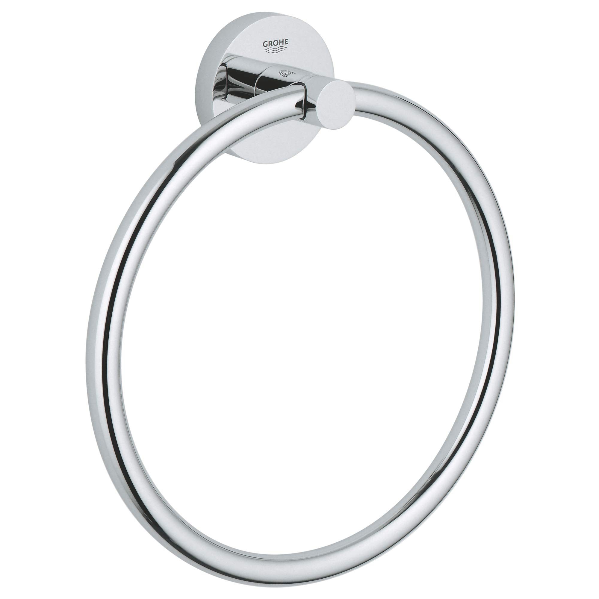 Grohe 40365001 Essentials Towel Ring, Chrome 8 Inch by GROHE