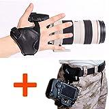 WITHLIN® fotografia Kit - vita cintura fibbia pulsante + fotocamera Grip cinturino da polso per fotocamera reflex DSLR (Canon Nikon Sony Pentax Olympus, ecc.)