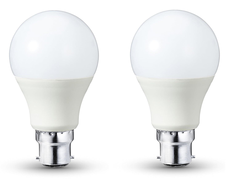 Basics - Bombilla LED B22, 9 W equivalente a 60 W, 806 lú menes, regulable - 2 unidades 806 lúmenes 60W A60 B22 WW FR DIM 2PK