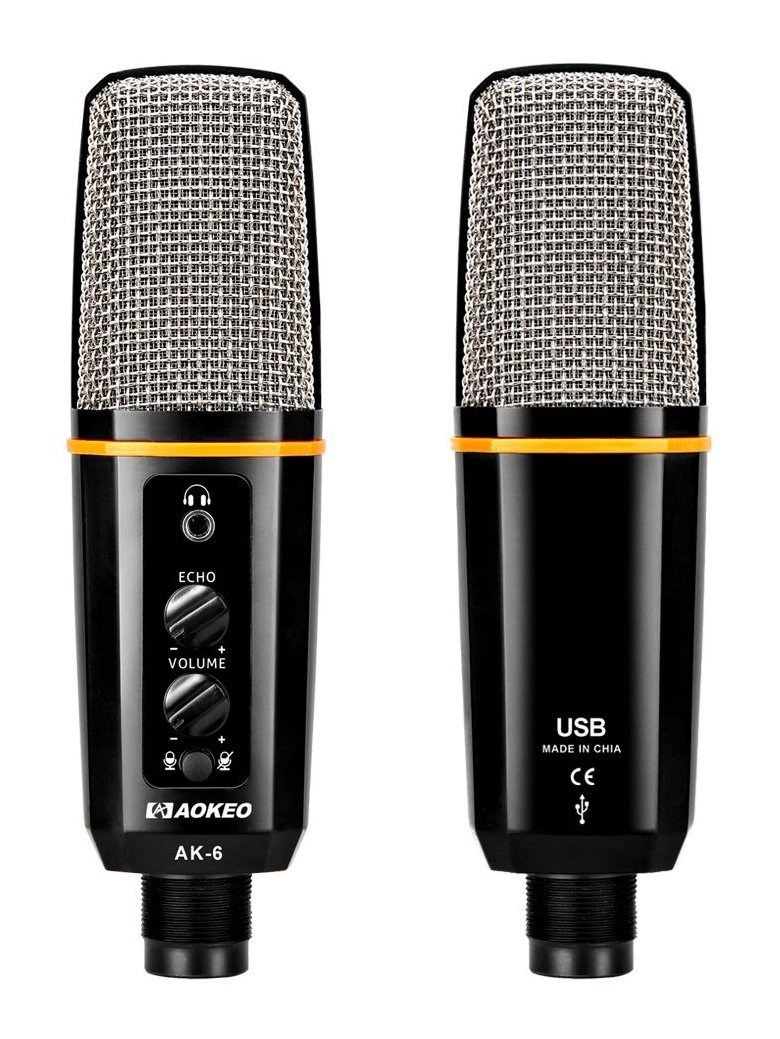 Aokeo's AK-6 Desktop USB Condenser Microphone, Best For Live Podcasting, Broadcasting, Skype, YouTube, Recording, Singing, Streaming, Video Call, Conference, Gaming, Etc. With Mount Stand, Plug & Play by aokeo (Image #6)