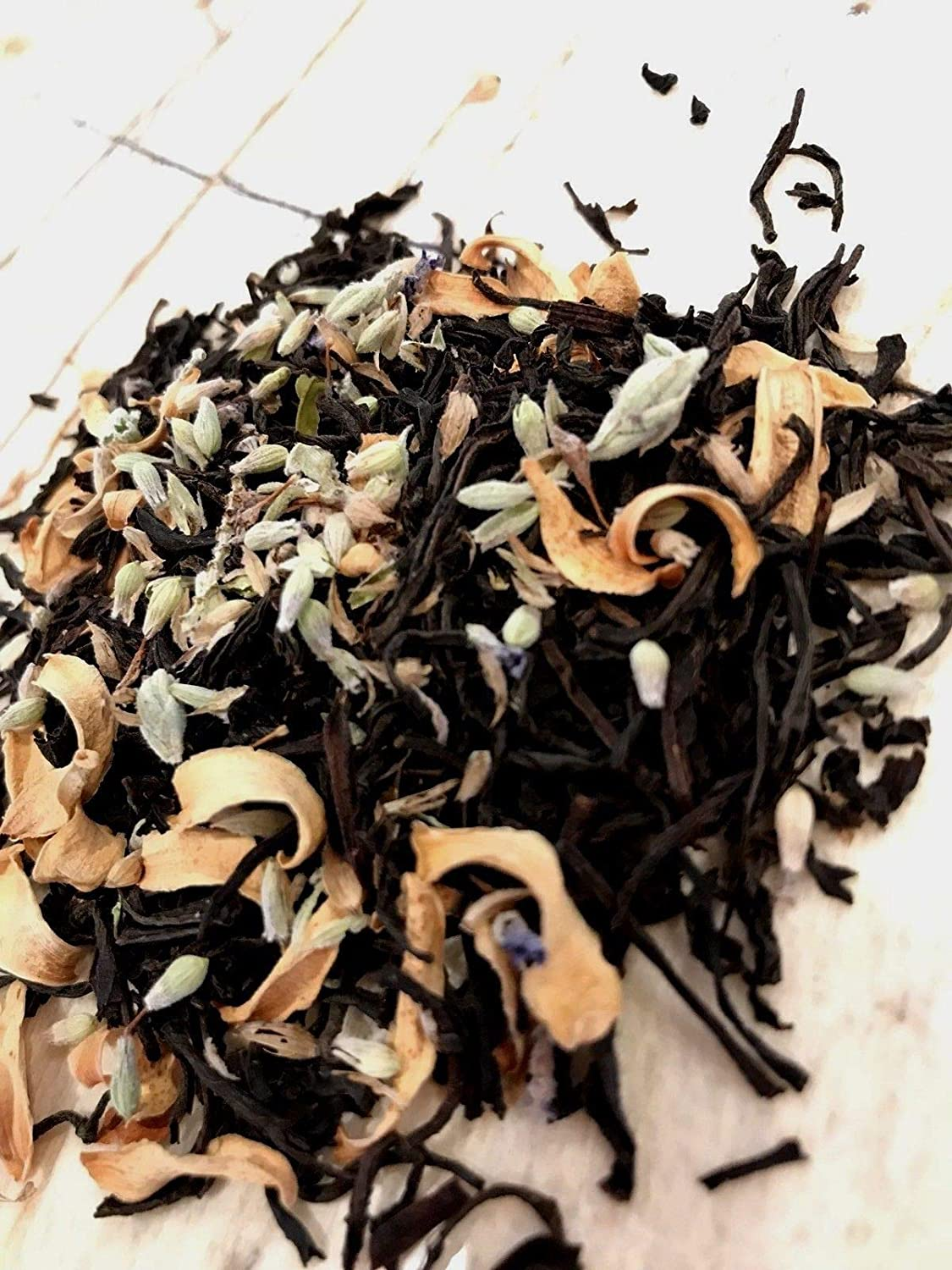 Orange blossom Lavender TEA Organic Herbal Loose Leaf Dry Flower Natural No GMO