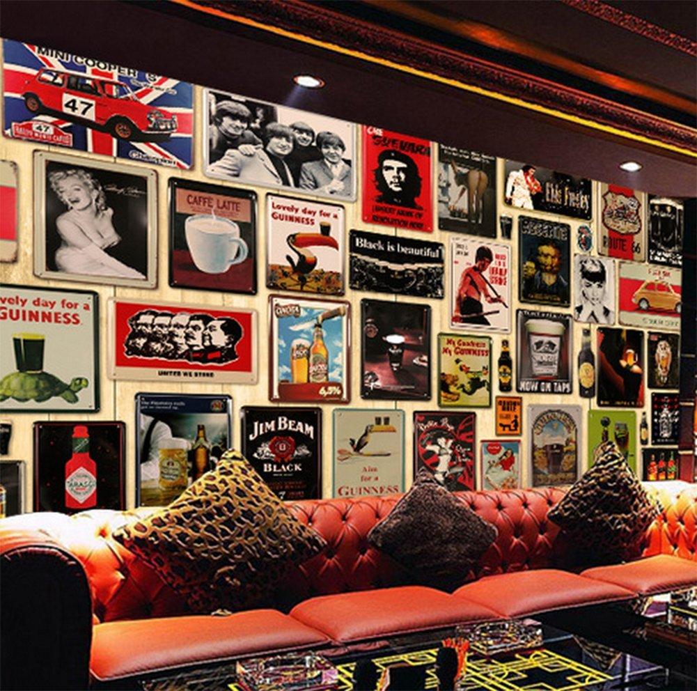 Hosaire Vintage Poster Mural Plaque M/étallique Signe Carte Bricolage Art D/écoratif Mural Restaurant Caf/é Bar Pub d/écoration Motif de D/élicieux G/âteau