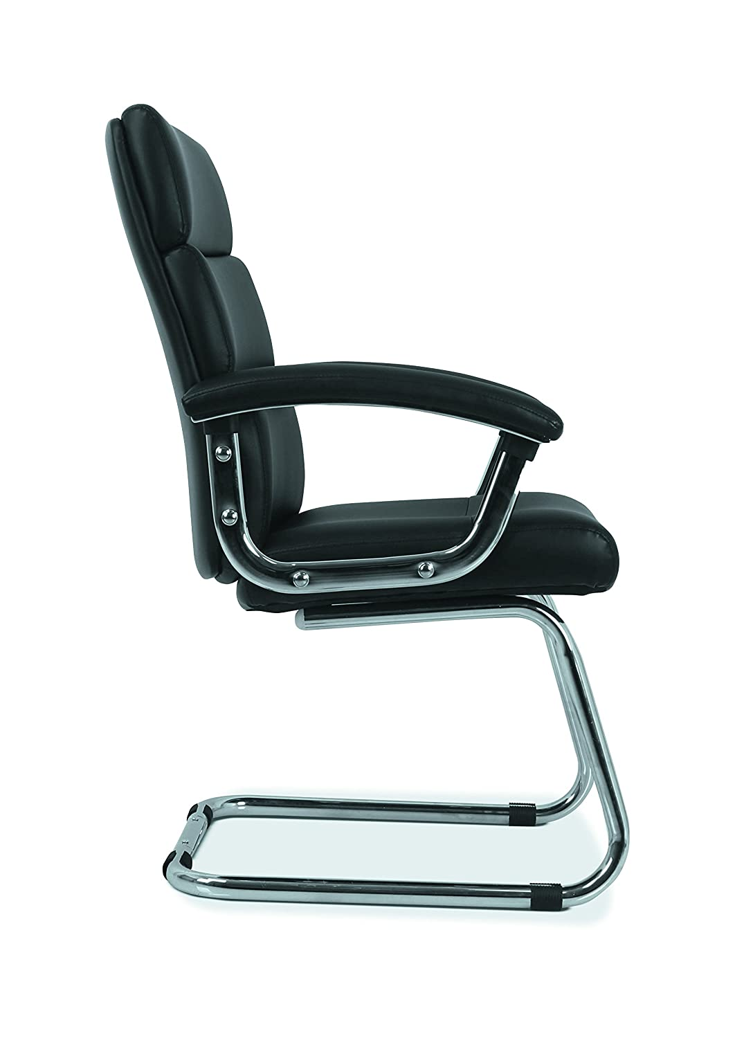HON Traction High-Back Modern Guest Chair HVL102 Leather Reception Chair Black