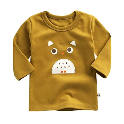 Agibaby Boys and Girls Infant & Toddler Long Sleeves Tshirts Owl
