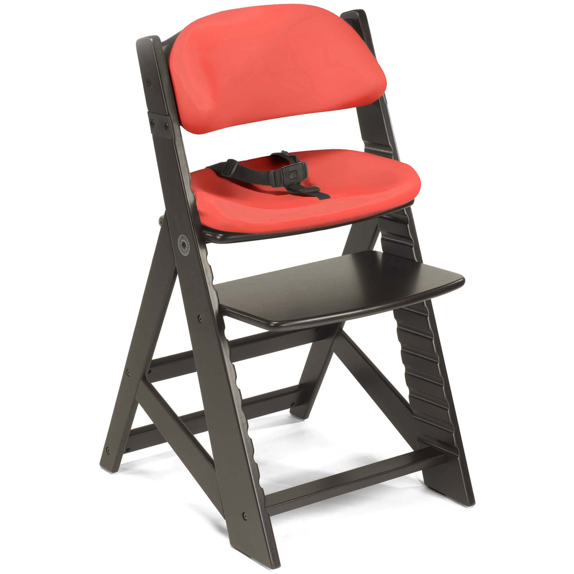 Keekaroo Height Right Kids Chair with Comfort Cushions - Cherry - Espresso Base