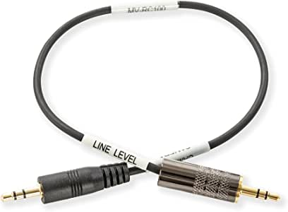 Movo MV-RC100 3.5mm Male Line-in to Male Microphone Attenuator Cable for HDSLR Cameras