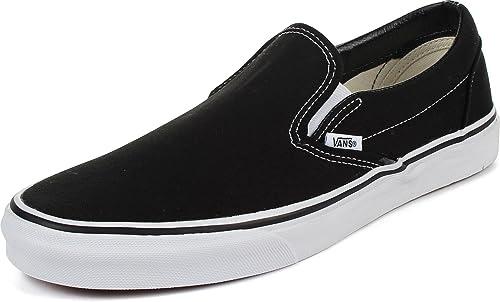 womens slip on vans black