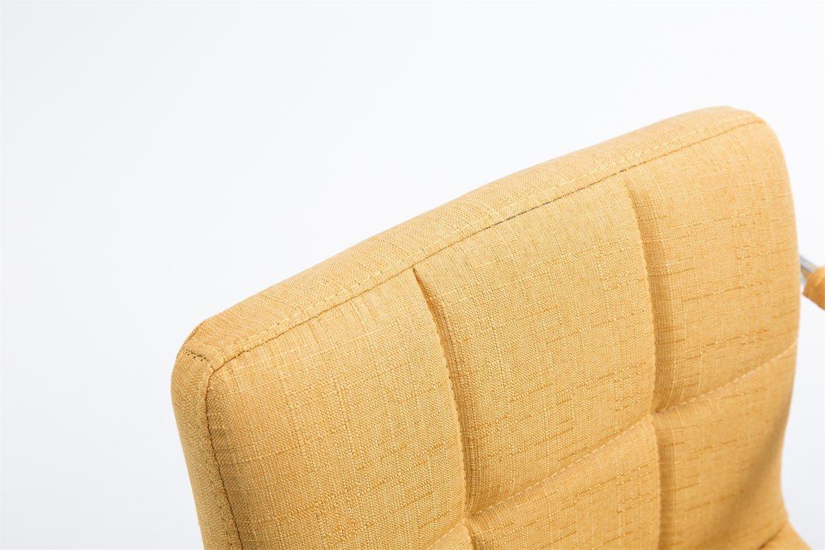 Sedia Sgabello con Schienale Girevole e Regolabile in Altezza I Sedia Bar con Braccioli e Poggiapiedi I Sgabello da Bancone Elegante beige CLP Sgabello Design LUCY V2 in Tessuto