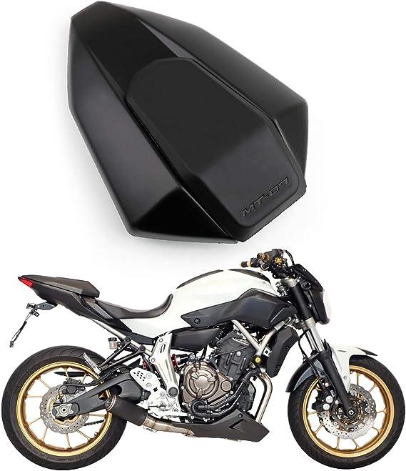 Artudatech Motorrad Soziusabdeckung Sitzkappe Verkleidung Heckabdeckung Rücksitzbezug Rear Seat Cowl Fairing Tail Cover Für Yamaha Mt 07 Fz 07 Fz07 2013 2017 Auto