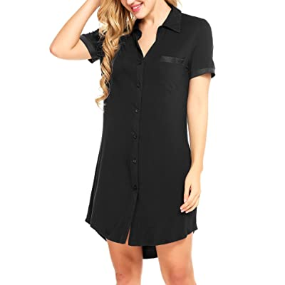 Avidlove Women Boyfriend Sexy Sleep Shirt Short Sleeve Nightshirts Sleepwear S-XXL