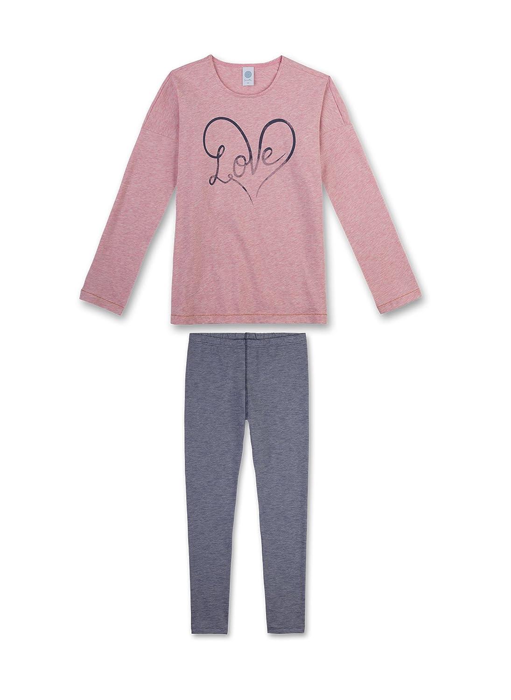 Sanetta niñas adolescentes pijamas Set 2 unidades. 140-176 Love larga - Rosa / Gris: 8-9 Years: Amazon.es: Ropa y accesorios