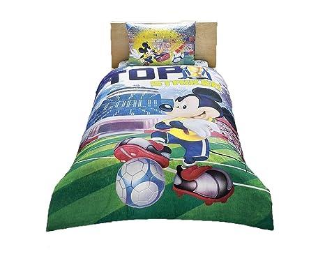 Lenzuola Letto Singolo Bambino.Disney Mickey Mouse Goal The Striker Letto Singolo Bambino