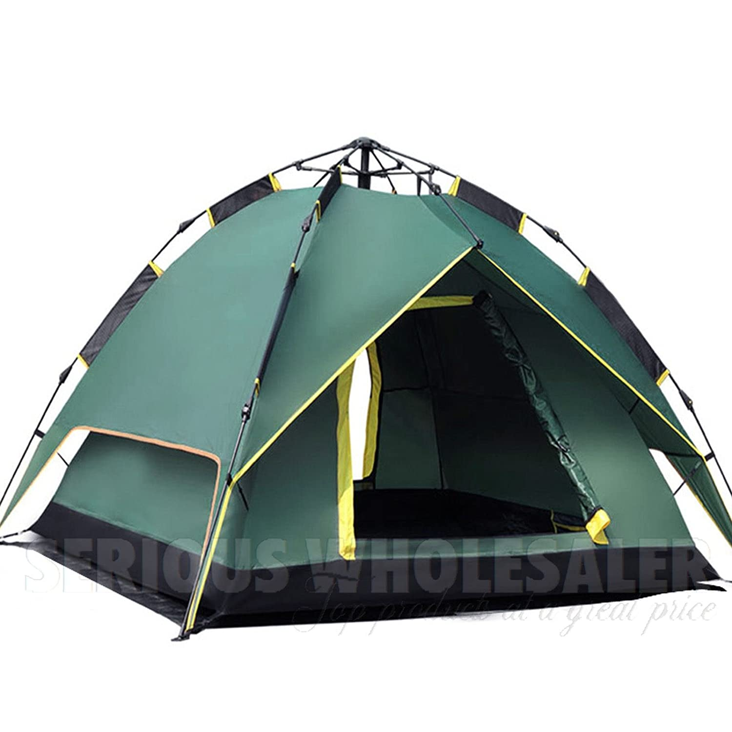 Waterproof Double layer Automatic Outdoor 2 Person Instant Camping Family Tent by AUEY   B00P6KBI5A