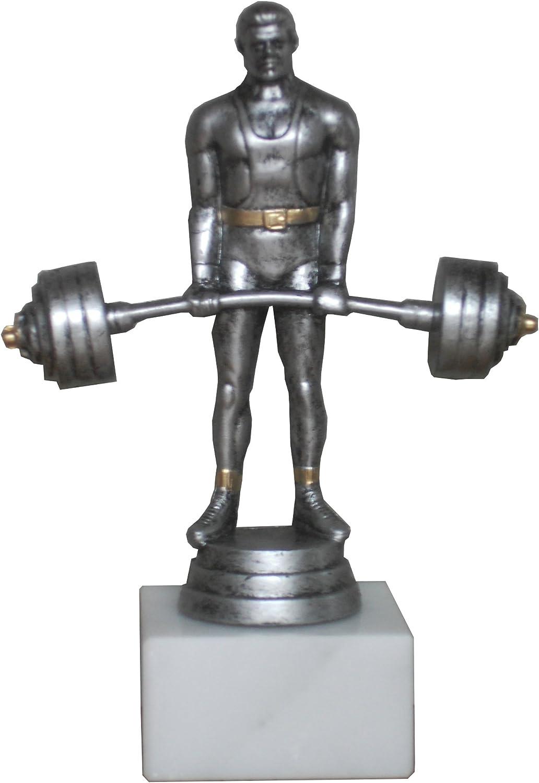 PP002 Gewichtheben Figur Trophäe Kraftsport inkl Gravur Pokal Restposten