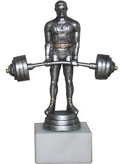 Pokal//Troph/äe Resin-Figur Gewichtheben 1 mit Ihrer Wunschgravur
