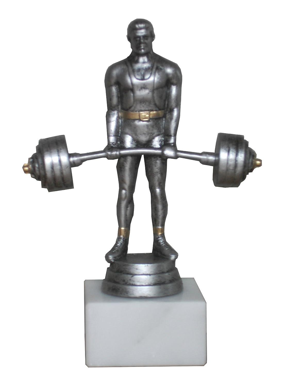 Pokal//Troph/äe Resin-Figur Gewichtheben 2 mit Ihrer Wunschgravur