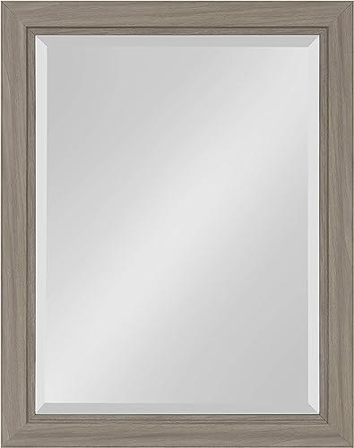 Kate and Laurel Dalat Framed Beveled Wall Mirror, 22×28, Graywash