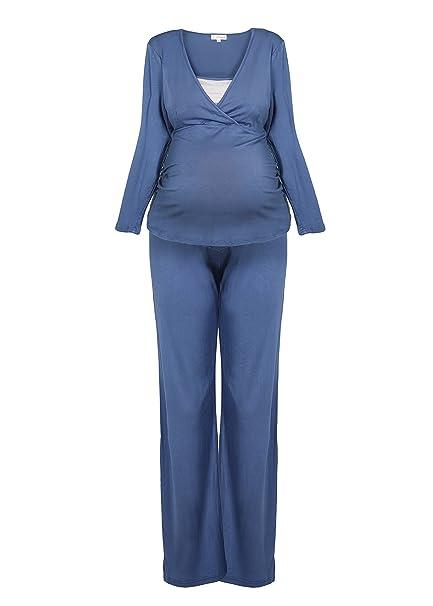 Hawaï 0199795 Lactancia Pijama de dormir Traje de premamá Pijama Ropa De Noche Para Mujer,