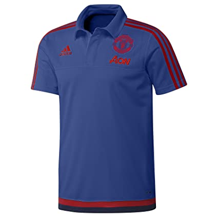 1ae220700 adidas Manchester United FC Official 2015 16 Training Polo Shirt - Adult -  Royal